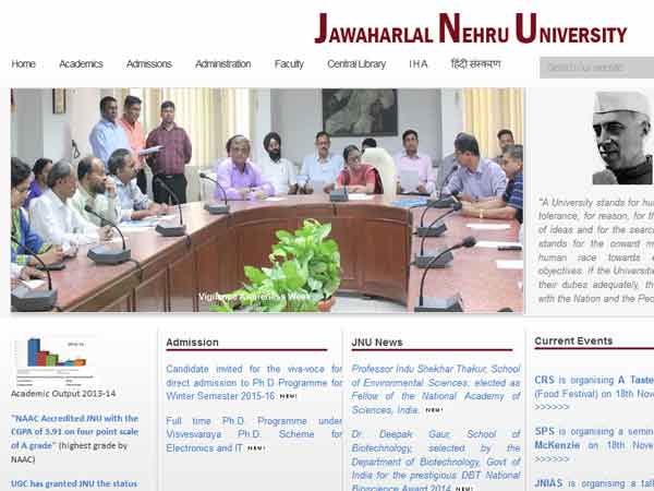 ஜவஹர்லால் நேரு பல்கலைக்கழகத்தில் திரைப்பட, டெலிவிஷன் படிப்புகள்