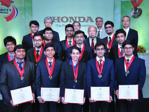 ஐஐடி மாணவர்கள் 14 பேருக்கு விருது வழங்கி கௌரவித்தது ஹோண்டா!!