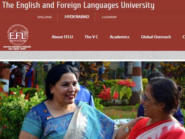 ஹைதராபாத் இஎஃப்எல் பல்கலைக்கழகத்தில் பட்டப் படிப்புகள் படிக்க ஆசையா....!!