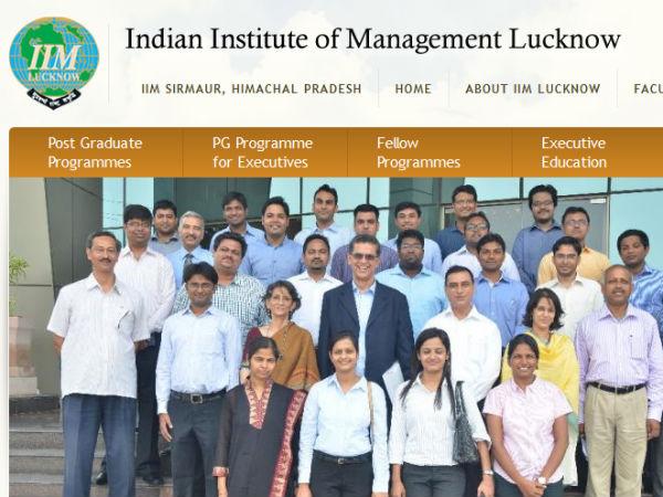 நீங்க ரொம்ப லக்கி....!! லக்னோ ஐஐஎம்-ல் காத்திருக்கு வேலை...!!