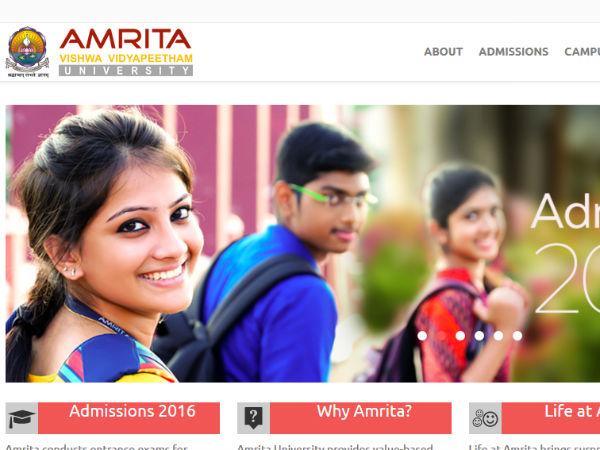 கோவை அம்ரிதா பல்கலைக்கழகத்தில் பி.எஸ்சி, எம்.எஸ்சி படிக்க ஆசையா...!!