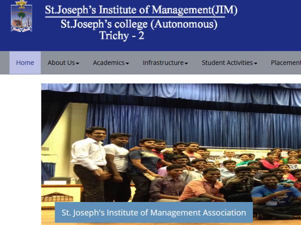 திருச்சி செயின்ட் ஜோசப் இன்ஸ்டிடியூட்டில் எம்பிஏ படிக்கப் போகலாமா....!!