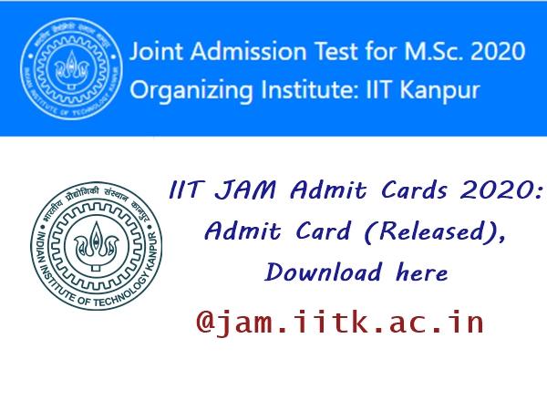 IIT JAM Admit Card 2020: நுழைவுத் தேர்விற்கான ஹால் டிக்கெட் வெளியீடு!