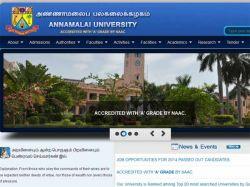 Scholarship Announced Annamalai University Tamil Pg Students