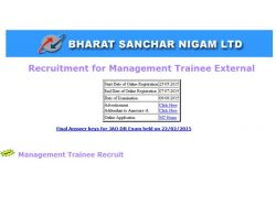 Bsnl Invites Applications The Post Management Trainee