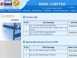 Beml Offers Job 43 Various Posts