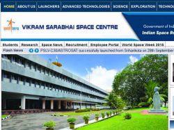 Jobs Recruitment Vikram Sarabhai Space Centre