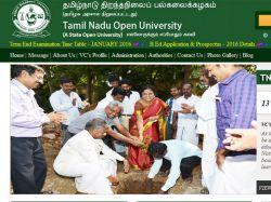 Tamil Nadu Open University Opens Admissions B Ed
