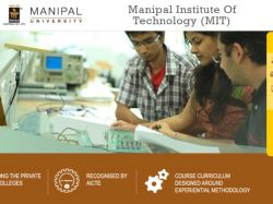 B Tech Admissions 2016 Manipal Institute Technology