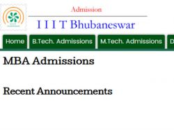 Iiit Bhubaneswar Offers Mba Admissions 2016 Session