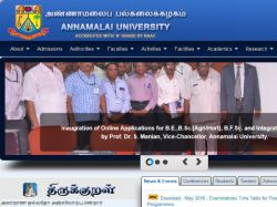 Online Application Facilities Annamalai University