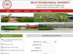 Apply Ph D Programmes 2016 At Delhi Technological Universi