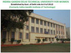 Igdtuw New Delhi Invites Applications M Tech Ph D Programme