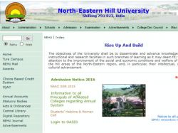 North Eastern Hill University Invites Application Mba Progra