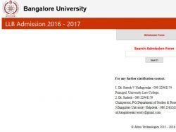 Bangalore University Offers Admission B A Ll B Programmes
