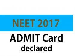 Neet Exam Hall Ticket Released