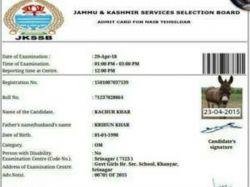 Donkey Gets Hall Ticket For J K Exam
