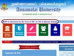 Annamalai University Recruitment Jrf At Cas Marine Biology