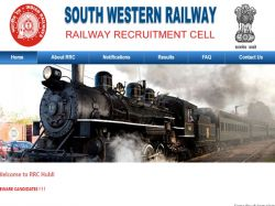 South Western Railway Recruitment 2018 Sports Quota Posts