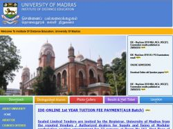 Madras University Revaluation Results 2018 Declared