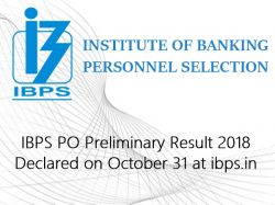 Ibps Po Preliminary Result 2018 Likely Be Declared On Octobe