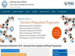 Iim Kozhikode Admission 2018 Apply Online Now
