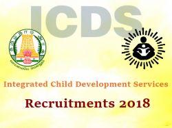 Icds Tamilnadu Recruitment 2018 89 Vacancies Apply Now