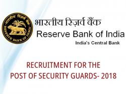 Rbi Recruitment Security Guard Check Notification Apply Onl