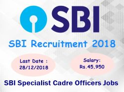 Sbi Recruitment 2018 36 Sbi Specialist Cadre Officers Jobs