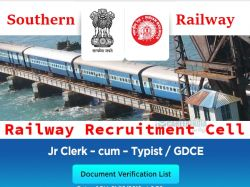 Southern Railway Recruitment 2019 Apply Online Sr 4 210 App