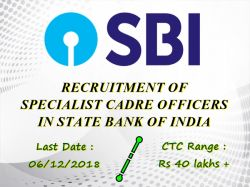 Sbi Recruitment 2018 Apply Online 38 Specialist Cadre Offi