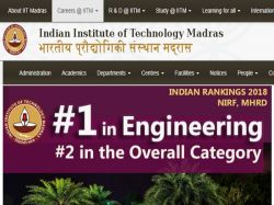 Iit Madras Recruitment 2019 Project Assistant Vacancies