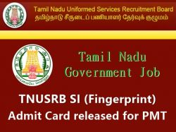 Tnusrb Si Fingerprint Hall Ticket Admit Card Released Pmt D