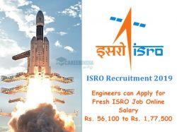Isro Recruitment 2019 Engineers Can Apply Fresh Isro Job On