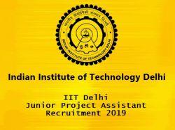 Iit Delhi Junior Project Assistant Recruitment 2019 03 Vac