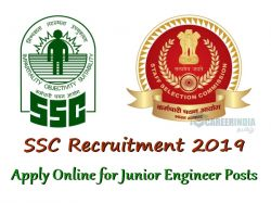 Ssc Recruitment 2019 Apply Online Junior Engineer Posts