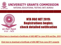 Nta Ugc Net 2019 Registrations Begins Check Detailed Notif