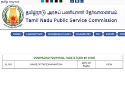 Tnpsc Hall Ticket For Assistant Agriculture Officer Exam Rel