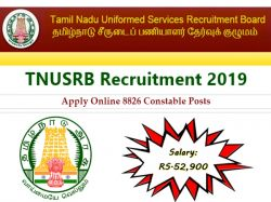 Tnusrb Recruitment 2019 Apply Online 8826 Constable Posts