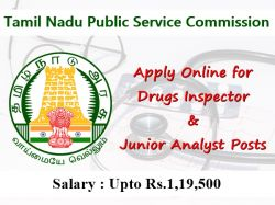 Tnpsc Recruitment 2019 Apply Online For 49 Drugs Inspector