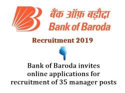 Bank Of Baroda Invites Online Applications For Recruitment O