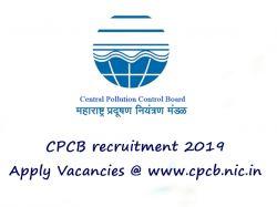 Cpcb Recruitment 2019 Apply 42 Latest Cpcb Vacancies Notific