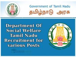 Department Of Social Welfare Tamil Nadu Recruitment For Various Posts