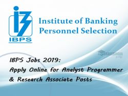 Ibps Jobs 2019 Apply Online For Analyst Programmer Research Associate Posts