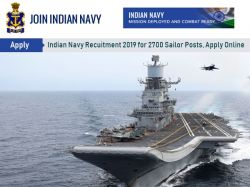 Indian Navy Recruitment 2019 For 2700 Sailor Posts Apply Online