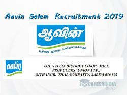 Aavin Salem Recruitment 2019 For Manager Post