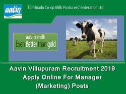 Aavin Villupuram Recruitment 2019 Apply Online 01 Manager