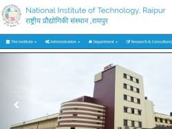 Nit Raipur Recruitment 2019 Apply For 77 Technical Assista