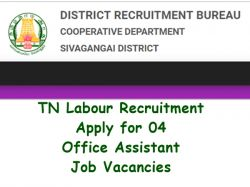 Tn Labour Recruitment 2018 19 Apply For 04 Office Assistant Job Vacancies