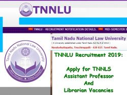 Tnnlu Recruitment 2019 Apply For Assistant Professor And Librarian Vacancies